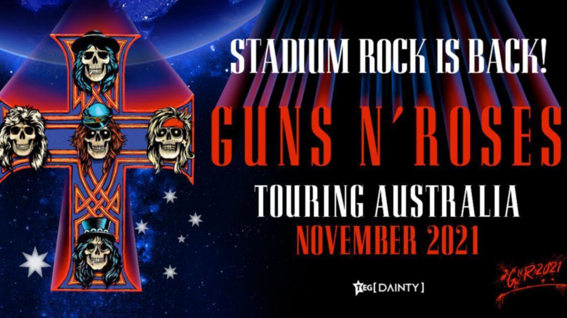 Guns N' Roses will perform at Optus Stadium in November 2021.